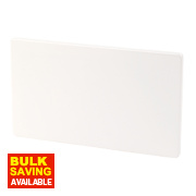 Varilight Ice White Double Blank Plate
