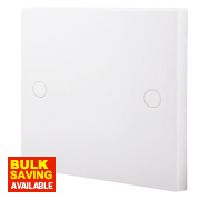 British General 1-Gang Blank Plate White