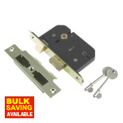 Century 5-Lever Mortice Sashlock Brass Plated 3