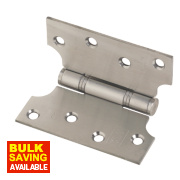 Parliament 13 Hinge Satin Stainless Steel 102 x 102mm Pack of 2