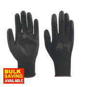 Keep Safe PU Palm Gloves Black Large