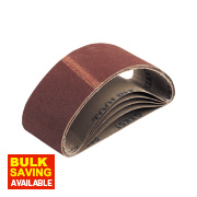 Cloth Sanding Belts Unpunched 65 x 410mm 80 Grit Pack of 5