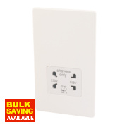 Varilight Ice White Shaver Socket