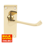 Victorian Scroll Door Handle Pack Brass Effect