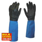 Showa Chem Master Gauntlets Blue/Black X Large