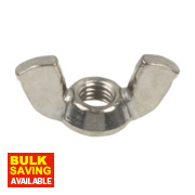 A4 Stainless Steel Wing Nuts M8 Pack of 10