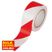 Hazard Tape Red / White 50mm x 33m