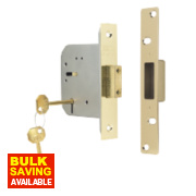 ERA 5-Lever Mortice Deadlock Brass Effect 3