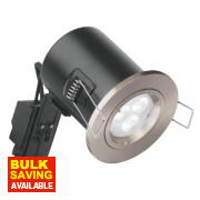Aurora 30, 60 & 90min Fire Rated Fixed Compact LED Downlight IP20 Satin Nickel 50W