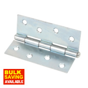 Steel Loose Pin Hinges Zinc-Plated 102 x 40mm Pack of 2