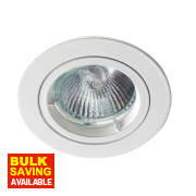 Robus Fixed Round Mains Voltage Downlight White 240V