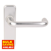 Excell Latch Door Handle Pair Satin Aluminium