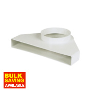 Manrose Flat Channel Appliance Connector White 240mm