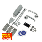 Lever Latch Set Satin Anodised Aluminium