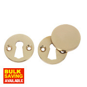 Victorian Escutcheon Set Polished Brass 38mm