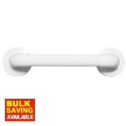 Elderly & Disabled Bathroom Grab Bar Anti-Bacterial ABS White 690 x 350mm