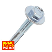 Rawlplug Self-Drilling Roof to Steel Screws + Washer 5.5 x 32 x 3.2mm Pk100