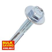 Rawlplug Self-Drilling Roof to Steel Screws + Washer 5.5 x 32 x 3.2mm Pk100
