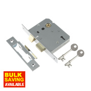 Century 3-Lever Mortice Sashlock Chrome Plated 3