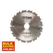 Titan TCT Circular Saw Blade 16T 180 x 16/20/30mm