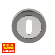 Jedo Escutcheon Polished Chrome / Black Nickel 50mm