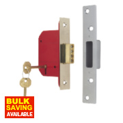 ERA BS 5-Lever Mortice Deadlock Satin Nickel 2½