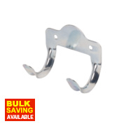 Double Tool Storage Hooks Zinc-Plated 60mm Pack of 5