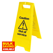 Caution Out of Service A-Frame Safety Sign 680 x 300mm