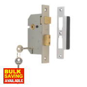 Union 3 Lever Sashlock Satin Chrome 2½