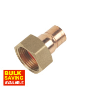 End Feed Straight Tap Connector 15mm x ¾