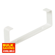 Manrose Rectangular Flat Channel Clip White 120mm Pack of 2