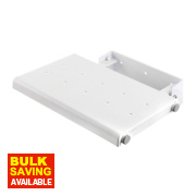 Croydex Wall-Mounted Shower Seat White 50 x 370 x 360mm