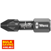 Wera IMP DC Impaktor Diamond Screwdriver Bit PZ2 ¼