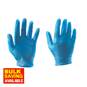 Cleangrip Vinyl Disposable Gloves Blue Large Pk100