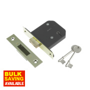 Century 5-Lever Mortice Deadlock Brass Plated 3