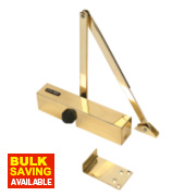 Briton 2003PBS Overhead Door Closer Polished Brass