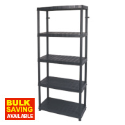 Freestanding Plastic Shelving 5-Tier