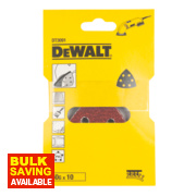 DeWalt 93 x 93mm 60 Grit Detail Sander Sheets Pack of 10