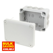 10-Entry Junction Box with Knockouts Grey 150 x 105 x 80mm