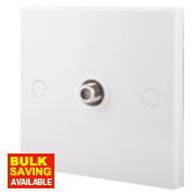 British General 1-Gang F-Type Satellite Socket White