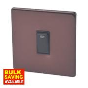 Varilight 1-Gang 20A Mocha Double Pole Switch + Neon