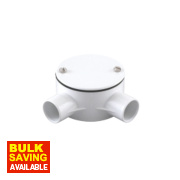 2-Way Angle Box 20mm White