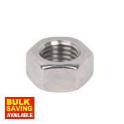 A4 Stainless Steel Hex Nuts M20 Pack of 50