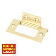 Flush Hinge Electro Brass 51 x 25mm Pack of 2