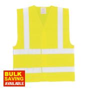 Hi-Vis Waistcoat Yellow XX Large / XXX Large 60