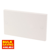 2-Gang Blanking Plate White