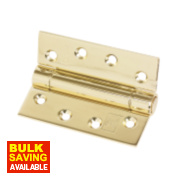 Fire Door Companion Hinge Electro Brass 102 x 76mm