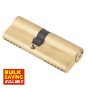 ERA 6-Pin Euro Cylinder Lock 45-55 (100mm) Brass