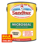 Sandtex Ultra Smooth Masonry Paint Cornish Cream 5Ltr
