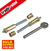 ERA Sash Window Lock Brass Pack of 6